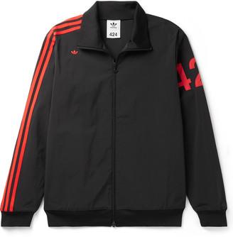 adidas Consortium - 424 Logo-Embroidered Striped Nylon-Blend Track Jacket - Men - Black