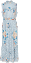 Anna Sui Decoupage Rose Border Jacquard Maxi Dress