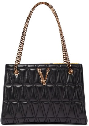 Versace Virtus Small leather shoulder bag