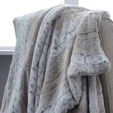 Faux Fur Leopard Ombre Throw