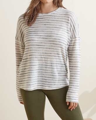 Express Upwest Striped Crew Neck Tee