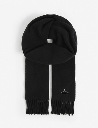 HOLZWEILER Dipper embroidered wool-cashmere blend scarf