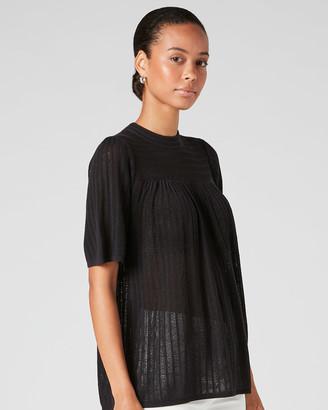 Jigsaw Fine Lace Short Sleeve Jumper