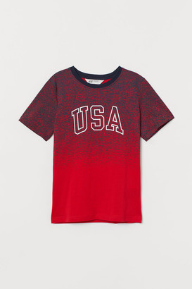 H&M Graphic T-shirt - Red