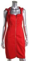 Calvin Klein Womens Bandage Scuba Cocktail Dress