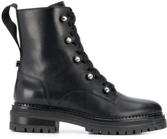 Sergio Rossi ankle length combat boots