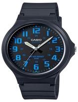 Casio Men's Super Easy Reader Watch - Black/Blue (MW240-2BV)