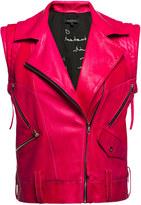 Leka Pink Leather Vest