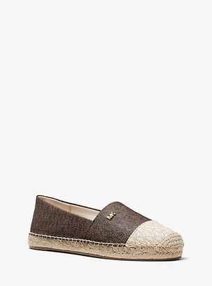 Michael Kors Kendrick Two-Tone Logo Slip-On Espadrille