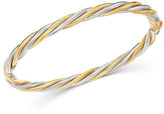 Bloomingdale's Twisted Bangle Bracelet in 14K Yellow & White Gold - 100% Exclusive