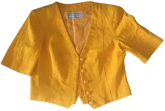 Saint Laurent Yellow Cotton Jackets