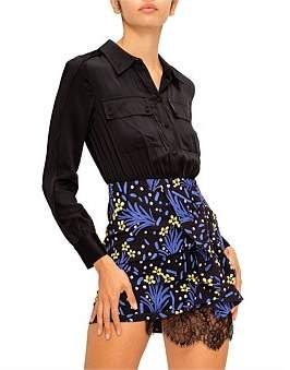 Self-Portrait Wildflower Printed Shirt Dress