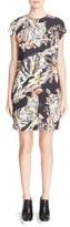 Stella McCartney Cat Print Stretch Cady Sheath Dress