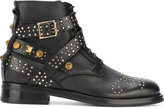 Fausto Puglisi Studded Leather Ankle Boots