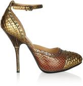 Lanvin Crystal-embellished python pumps