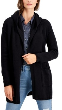 Style&Co. Style & Co Petite Hooded Cardigan, Created for Macy's