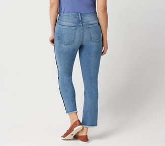 JEN7 by 7 For All Mankind Straight Crop Jeans w ith Seam Detai