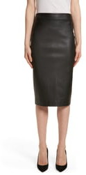 Theory Leather Skinny Pencil Skirt
