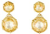 Judith Ripka 18K Diamond & Crystal Eclipse Drop Earrings