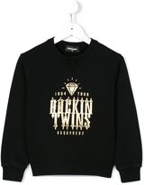 DSQUARED2 rockin twins print sweatshirt