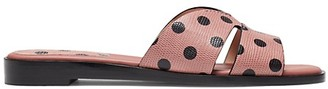 Kate Spade Polka-Dot Leather Sandals
