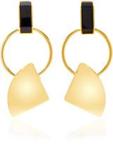 Marni Gold-Tone Clip Earrings