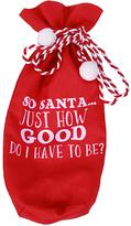 Red 'So Santa' Wine Gift Bag
