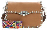 Valentino Garavani Guitar Rockstud Rolling leather shoulder bag