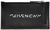 Givenchy LEATHER SPLIT LOGO CARD HOLDER W/ZIP
