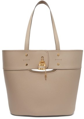 Chloé Aby Large Grained-leather Tote - Womens - Grey