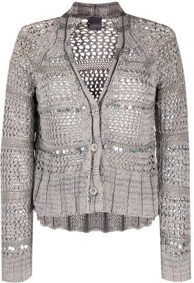 Lorena Antoniazzi Open Knit Embellished Cardigan