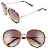 KENDALL + KYLIE Women's Jules 58Mm Aviator Sunglasses - Matte Demi/ Matte Gold