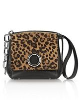 Alexander Wang Attica Flap Marion In Printed Leopard With Rhodium
