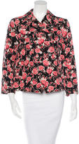 Marni Double-Breasted Floral Blazer