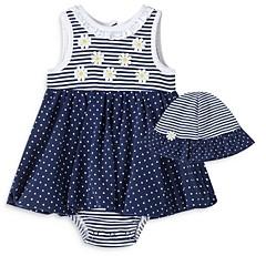 Little Me Girls' Daisy Popover Dress & Hat Set - Baby