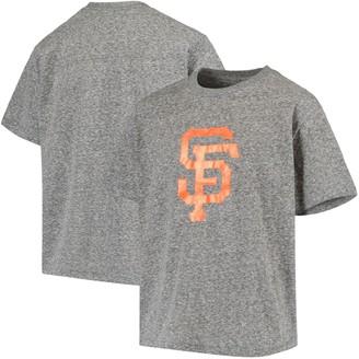 Stitches Youth Heathered Black San Francisco Giants Snow T-Shirt