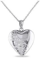 "Allura Heart Locket Pendant Necklace in Sterling Silver (18"")"