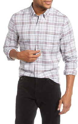 1901 Trim Fit Plaid Button-Up Shirt