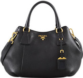 Prada Daino Medium Shoulder Tote Bag, Black (Nero)