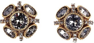 Oscar de la Renta Classic Button Stud Earrings