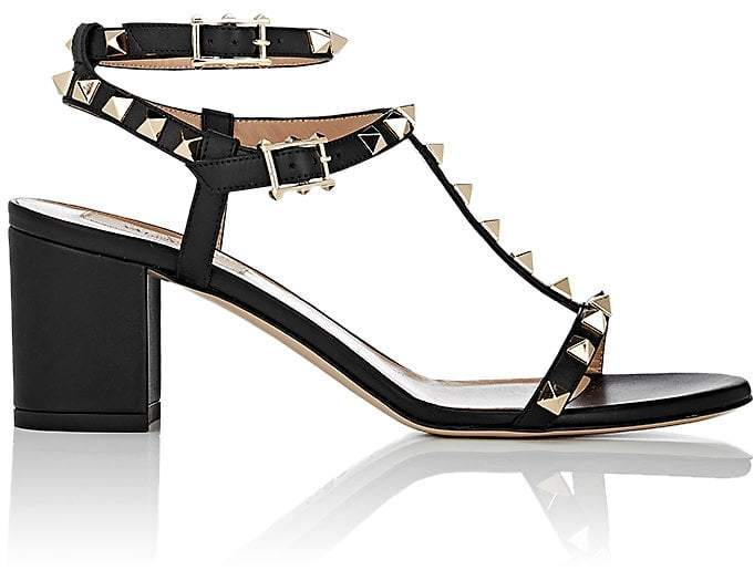 Valentino Women's Rockstud Leather Double-Strap Sandals