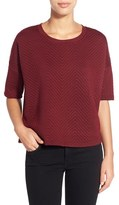 Gibson Petite Women's Textured Drop Shoulder Top