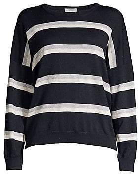 Peserico Women's Lurex Striped Wool, Silk & Cashmere Sweater
