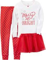 Carter's Baby Girls 3-pc. Merry & Bright Pajama Set