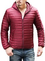 CHERRY CHICK Men's Packable Puffer Down Jacket with Hood X-Large