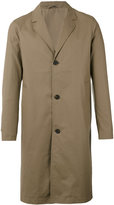 Stutterheim classic midi coat - men - Cotton/Polyurethane - S