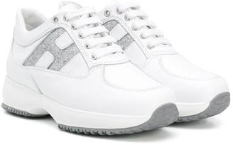 Hogan TEEN two-tone logo sneakers