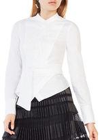 BCBGMAXAZRIA Kathryn Wrap Bib Shirt