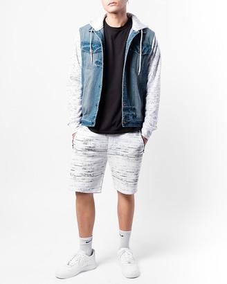 Express Brooklyn Cloth Streaky Print Zip Pocket Shorts