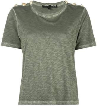 Veronica Beard shoulder-button military T-shirt